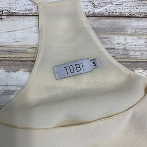 Tobi Tops - ‼️TOBI Cream Semi Sheer Tank Size Small‼️